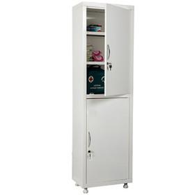 Медицинский шкаф одностворчатый HILFE МД 1 1650/SS